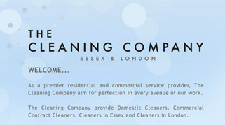 The Cleaning Company website